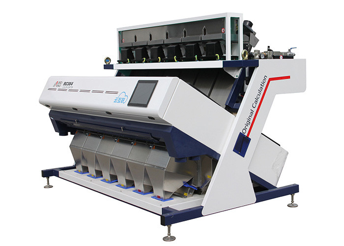 RC6 Grain Sesame Color Sorter Machine High Performance Sensors Fast Detection