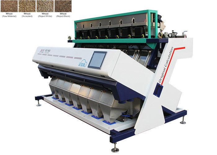 Intelligent Algorithm Wheat Color Sorter , LED Optical Design System Unique Color Sorter