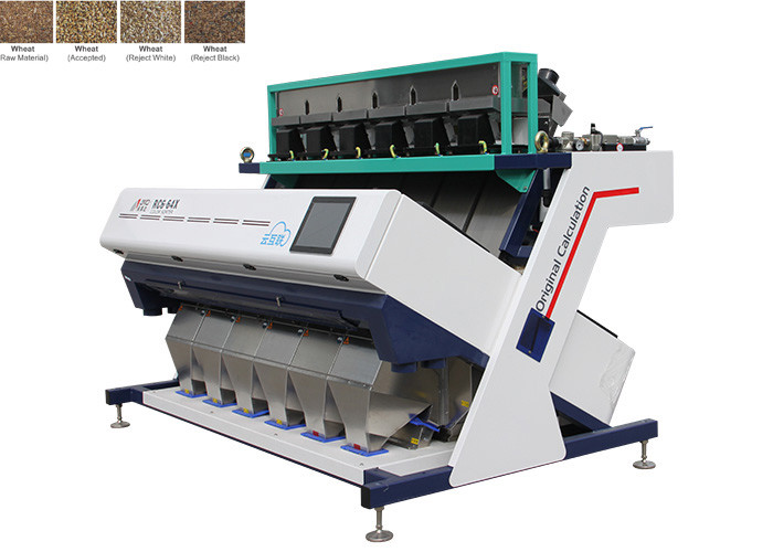 1220KG Sortex Machine For Wheat , High Frequency Ejectors Amd Color Sorter