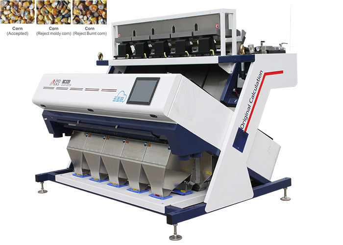 RC5 Real Time Corn Color Sorter Multi Channels With RoHS SGS ISO Certification